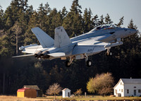 US Navy Electronic Attack Squadron 129 (VAQ-129) EA-18G Growler Naval Outlying Landing Field (NOLF) Coupeville